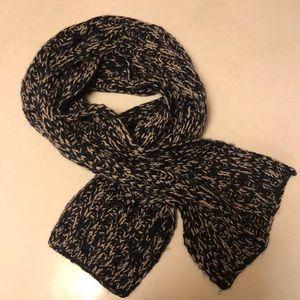 Kenneth Cole Navy & Khaki Knit Scarf